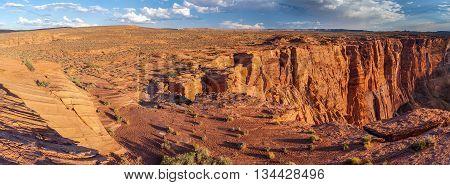 Horse Shoe Bend Of Colorado River, Near Page, Arizona,  Usa