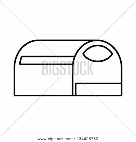 Booth for dog icon in outline style isolated on white background