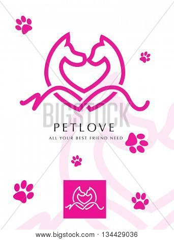 DOG AND CAT , VECTOR LOGO / ICON , IDEAL FOR PET RELATED STORE OR PROFESSION