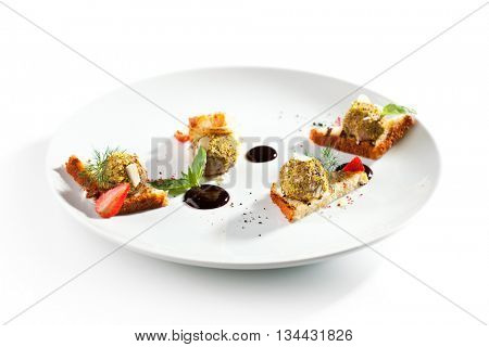 Toasted Bread with Liver Pate and Berries