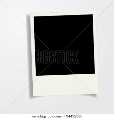 vector vintage blank photo frame with shadow