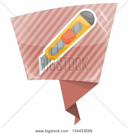Cutter colorful icon. Vector illustration in cartoon style