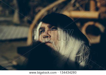 Druid Old Man Face