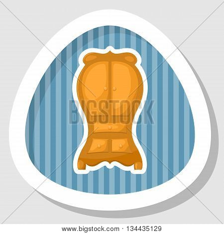 Cupboard icon, Cupboard icon eps 10, Cupboard icon vector, Cupboard icon jpg. Vector illustration
