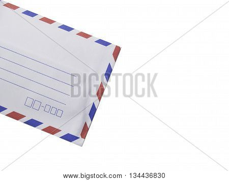 white envelope isolated on white backgroundwhite red and blue envelope