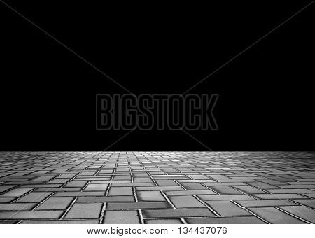 brick road with empty background