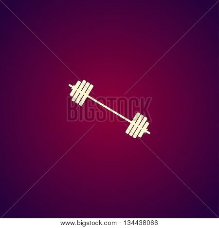 Barbell Icon. Vector Concept Illustration For Design