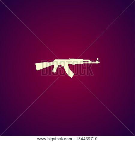 Machine Gun Icon. Vector Concept Illustration For Design.