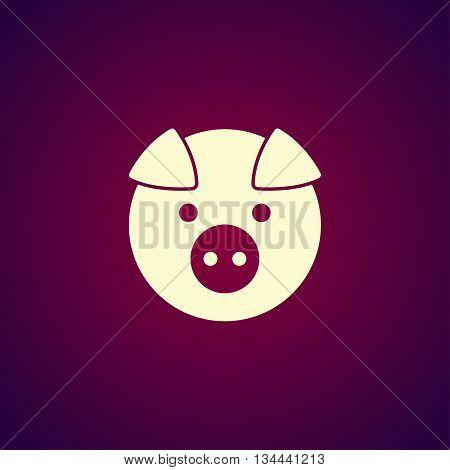 Pig Icon. Vector Concept Illustration For Design