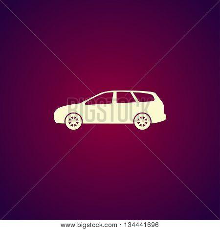 Wagon Car Icon. Concept Illustration For Design
