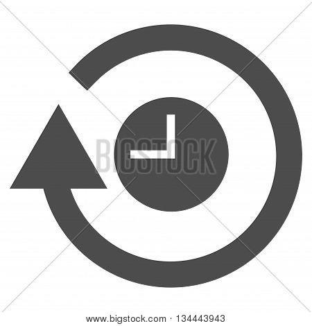 Repeat Clock vector icon. Style is flat icon symbol, gray color, white background.