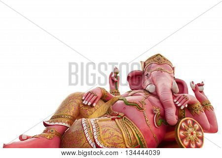 Ganesha statue isolated on a  white background