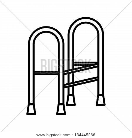 Walker icon in outline style isolated on white background