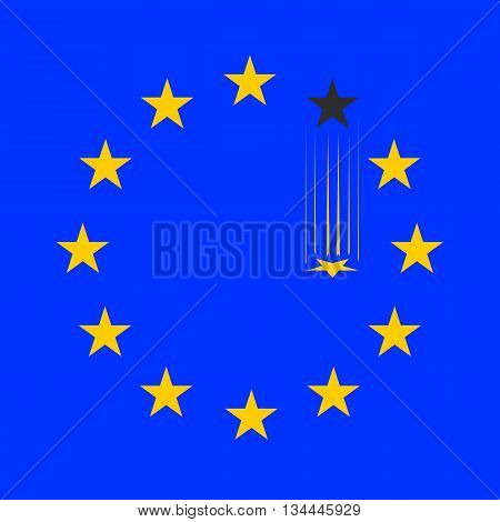 flag of European Union without a single star
