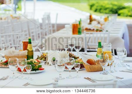 Served Table For Event