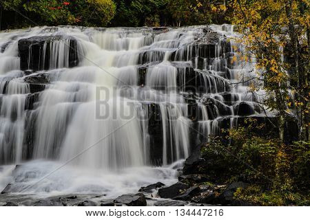 Michigan's Bond Falls In Autumn. Beautiful Bond Falls in Michigan's Upper Peninsula in the autumn.