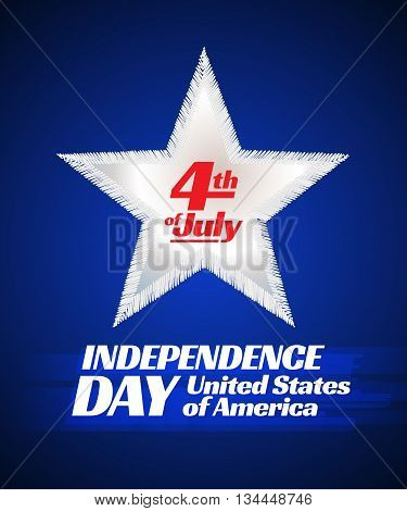 Independence day 4 th july card. Patriotic symbol holiday poster