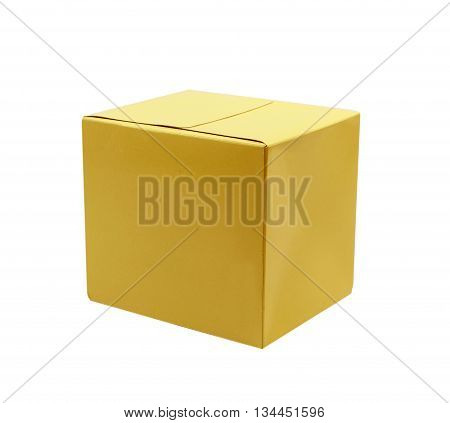 a cardboard box isolated on white background