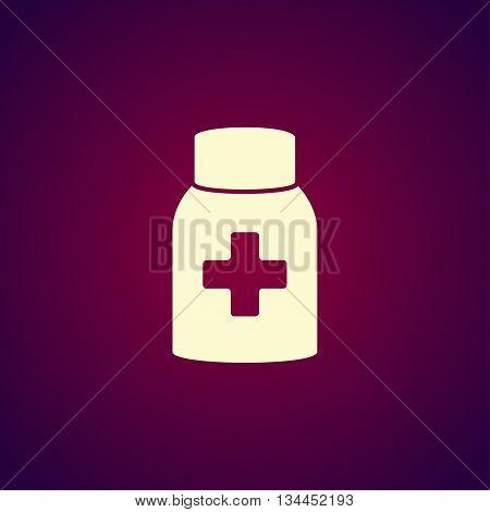 medicine bottle icon. Flat design style EPS