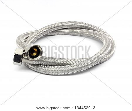 The plumbing hoses isolated on white background