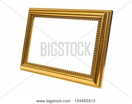 Stock Photo - Beside Old Antique Gold frame Isolated