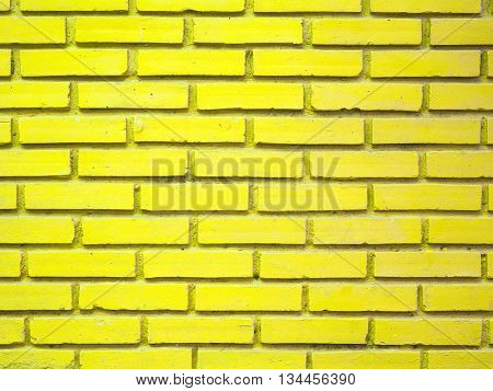 Stock Photo - Yellow brick wall texture background