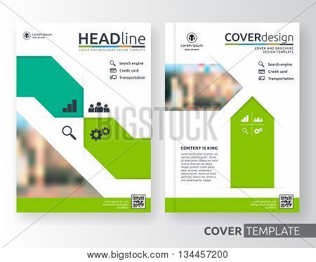 Abstract business and corporate cover design layout. Suitable for flyer brochure book cover leaflet and annual report. green and white colour A4 size template background with bleed.