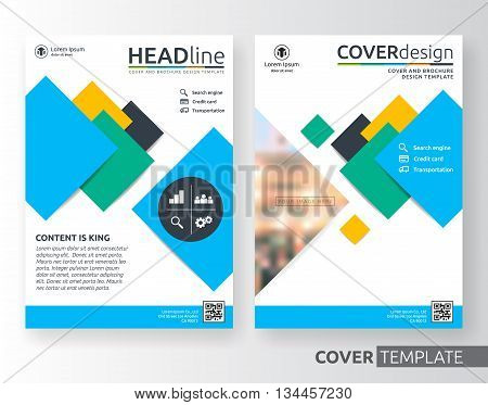 Abstract business and corporate cover design layout. Suitable for flyer brochure book cover leaflet and annual report. colorful A4 size template background with bleed.