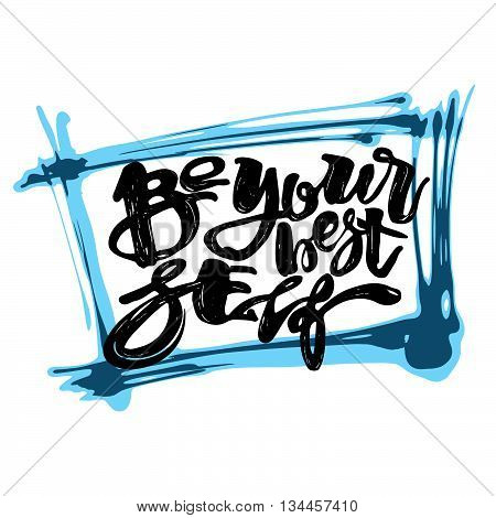 Be Yourself Graffiti Hand Lettering