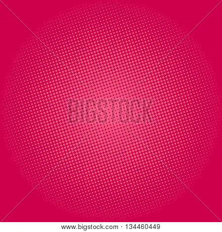 Pop Art Background, Dots on Pink Background, Halftone Background, Retro Style, Vector Illustration