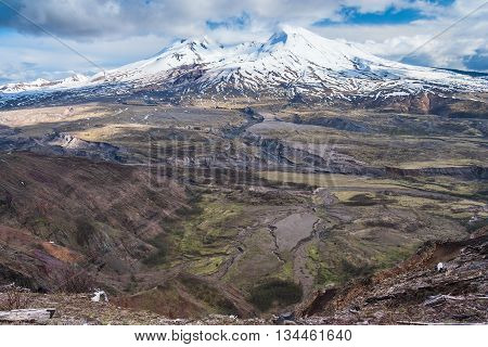 Mount St. Helens in Washington state, USA