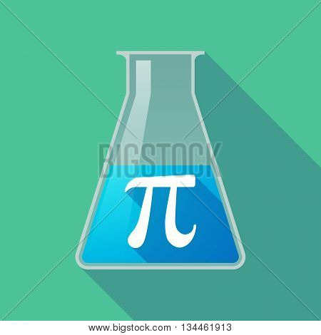Long Shadow Chemical Test Tube With The Number Pi Symbol