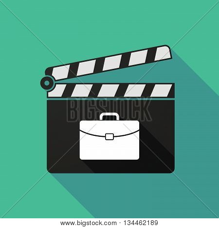 Long Shadow Clapperboard With  A Briefcase
