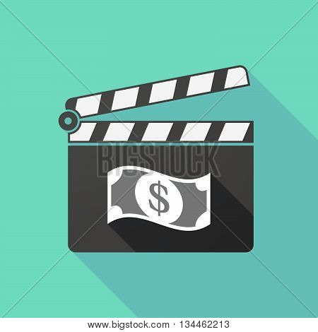 Long Shadow Clapperboard With A Dollar Bank Note