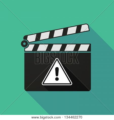 Long Shadow Clapperboard With A Warning Signal