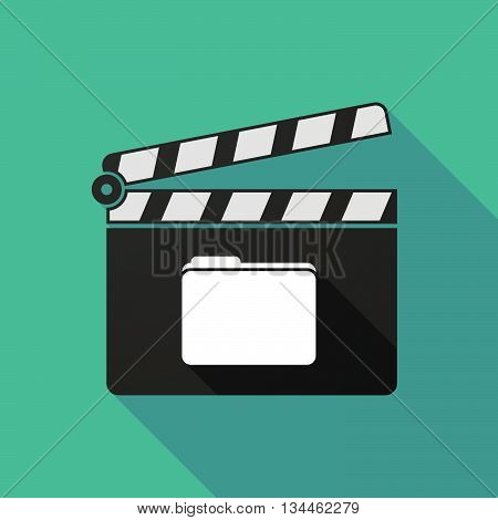 Long Shadow Clapperboard With A Folder