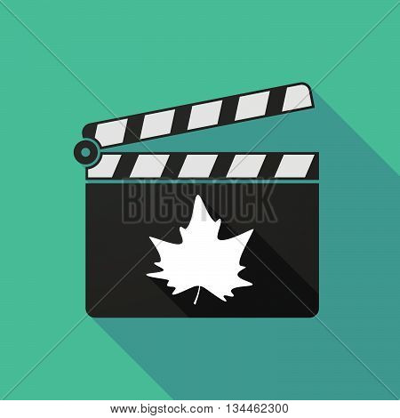 Long Shadow Clapperboard With An Autumn Leaf Tree