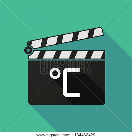 Long Shadow Clapperboard With  A Celsius Degree Sign