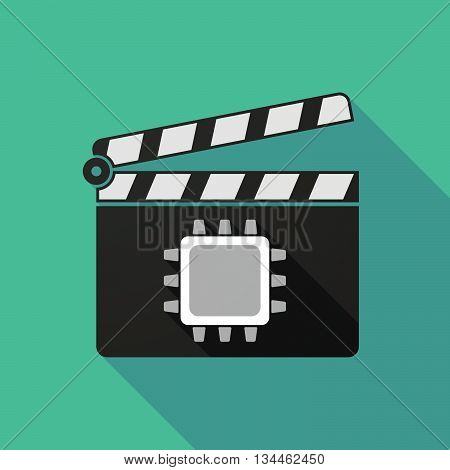 Long Shadow Clapperboard With A Cpu
