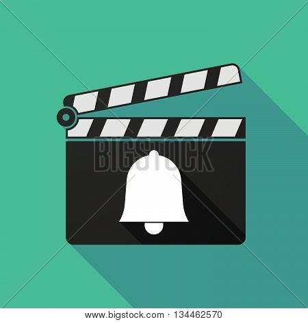 Long Shadow Clapperboard With A Bell