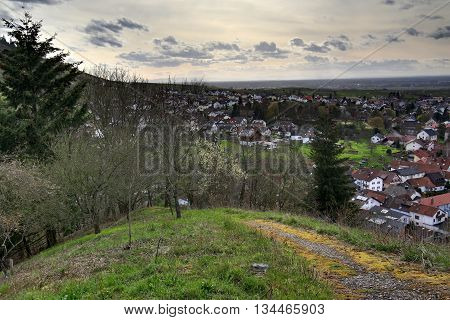 Hdr Image Of Outlook Over Neuweier, Baden-wurttemberg, Germany