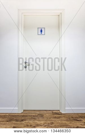 white Clean and clear women restrooms entrance