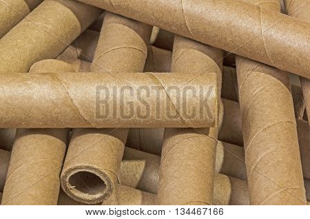 Scattered Collection Of Cardboard Packaging Tubes
