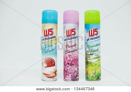Berezovitsa, Ukraine - Circa June, 2016: Set Of Air Freshener W5