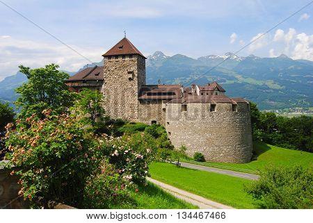 Vaduz castle Schloss Vaduz in Vaduz, Liechtenstein.