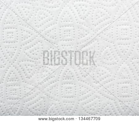 Paper towel with white pattern background texture in high resolution