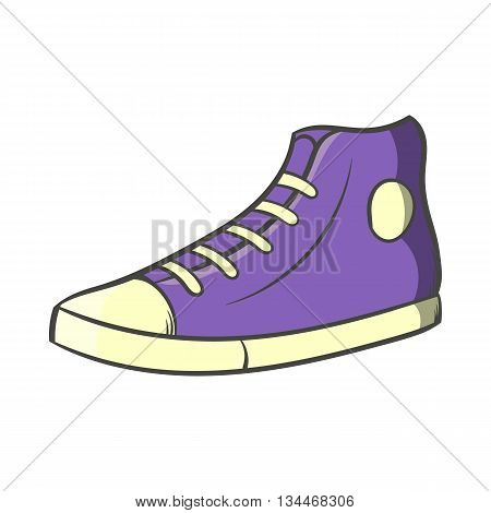 Pair of sneakers icon in cartoon style on a white background