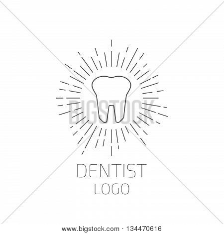 Dentist logo. Tooth logo or icon. Vector illustration