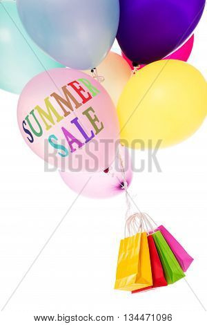 Colorful Ballons And Shopping Bags, Summer Sale