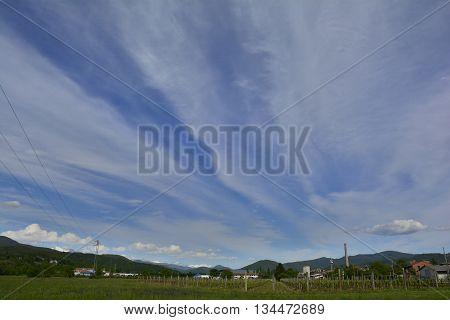 A late April landscape near Cividale del Friuli north east Italy